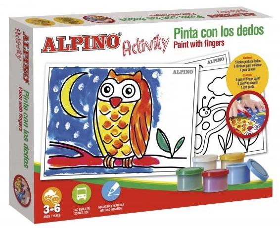 Cutie cu articole creative pentru copii, ALPINO Activity - Paint with the finger 1