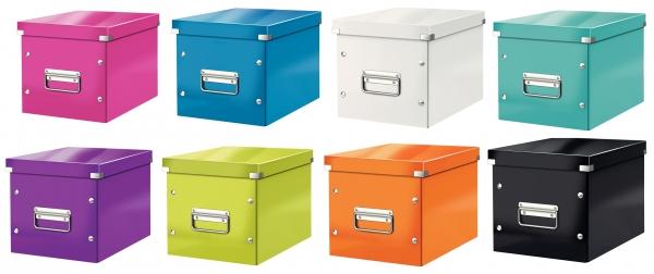 Cutie LEITZ Click & Store mica 216 x 160 x 282 mm, carton laminat - portocaliu 1