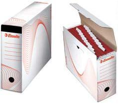 Cutie arhivare ESSELTE din carton, pentru 10 dosare suspendabile - alb [0]