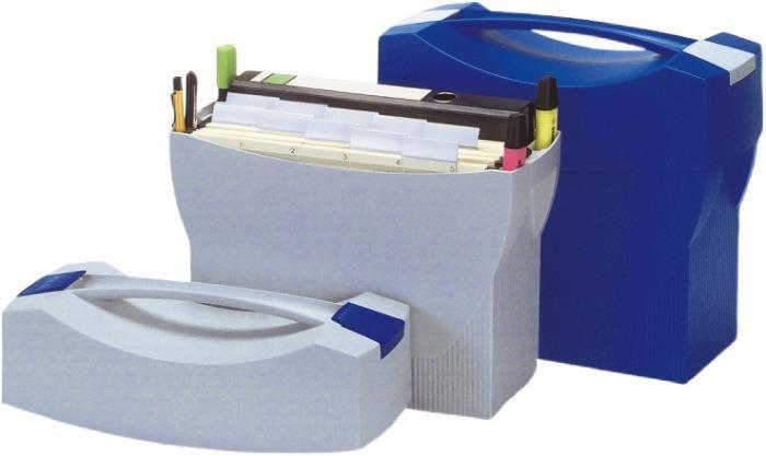 Suport plastic pentru 20 dosare suspendabile, cu capac, HAN Swing Plus - gri deschis [0]