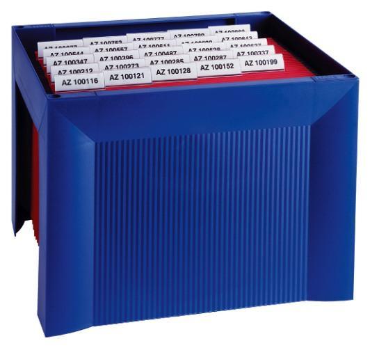 Suport plastic pentru 35 dosare suspendabile, HAN Karat - albastru [0]