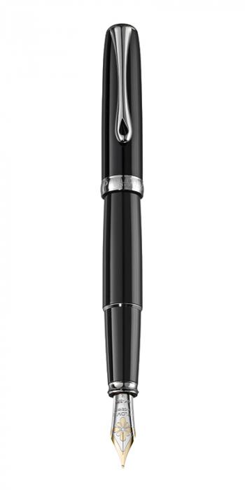 DIPLOMAT Excellence A - Black Lacquer - stilou cu penita M, aurita 14kt. [0]