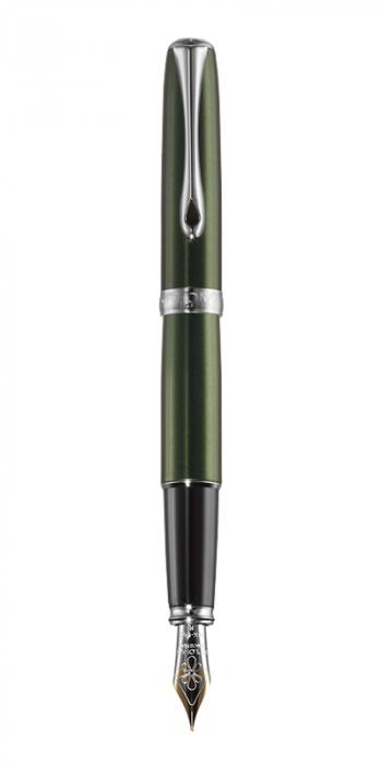 DIPLOMAT Excellence A - Evergreen Chrome - stilou cu penita M, aurita 14kt. [0]