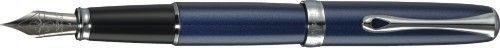 DIPLOMAT Excellence A - Midnight Blue Chrome - stilou cu penita M, din otel inoxidabil [0]