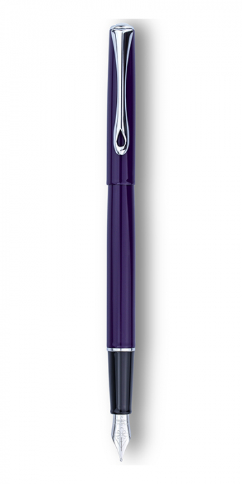 DIPLOMAT Traveller deep purple - stilou cu penita M, din otel inoxidabil 5
