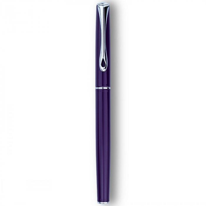 DIPLOMAT Traveller deep purple - stilou cu penita M, din otel inoxidabil 2