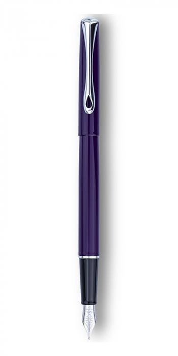 DIPLOMAT Traveller deep purple - stilou cu penita M, din otel inoxidabil 0
