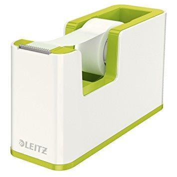 Dispenser cu banda adeziva inclusa LEITZ Wow, culori duale - verde metalizat/alb 0