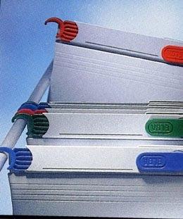 Dosar suspendabil, gheare retractabile din plastic color, din carton gri, Elba Varo 1