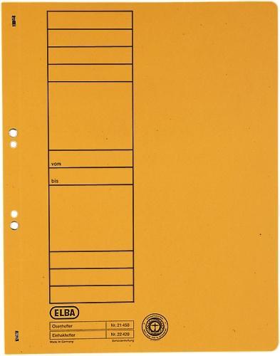 Dosar carton cu capse 1/1  ELBA - galben [0]