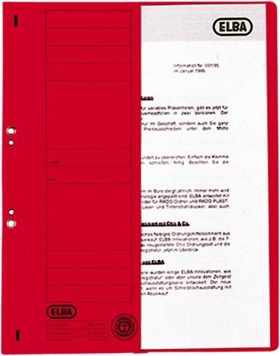 Dosar carton cu capse 1/2  ELBA - rosu 0