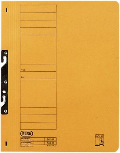 Dosar carton incopciat 1/1  ELBA - galben 0