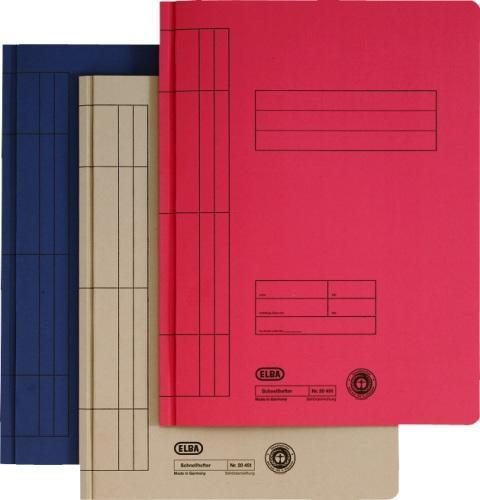 Dosar carton cu sina  ELBA - rosu [0]