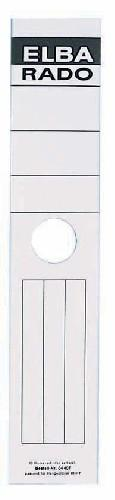 Etichete albe autoadezive pentru biblioraft suspendabil 59 x 290 mm, 10/set, ELBA [0]