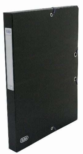 Mapa carton 600g/mp, cu elastic, 25mm latime, ELBA Eurofolio - negru [0]