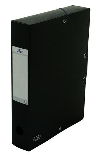 Mapa carton 600g/mp, cu elastic, 60mm latime, ELBA Eurofolio - negru 0