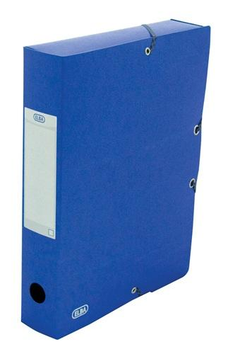 Mapa carton 600g/mp, cu elastic, 60mm latime, ELBA Eurofolio - albastru 0