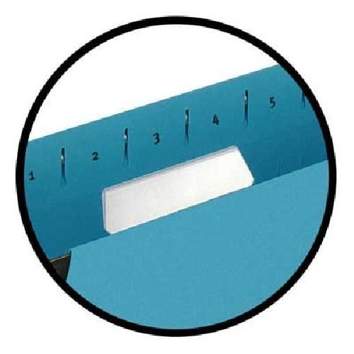 Etichete albe pe format A4, microperforate, pentru dosare suspendate, 10coli/set, ELBA 0