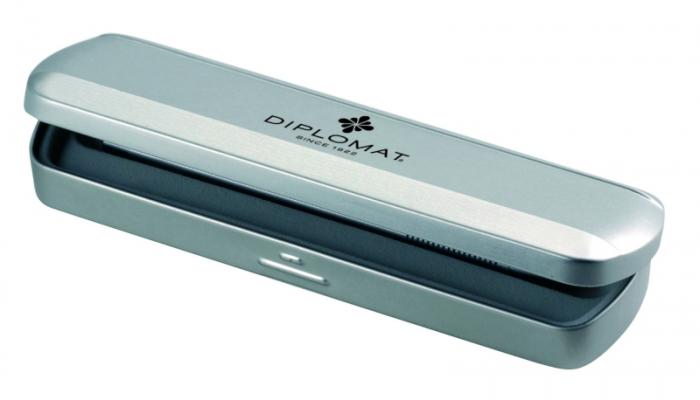 Etui metalic, pentru 1 instrument de scris, DIPLOMAT Traveller 0