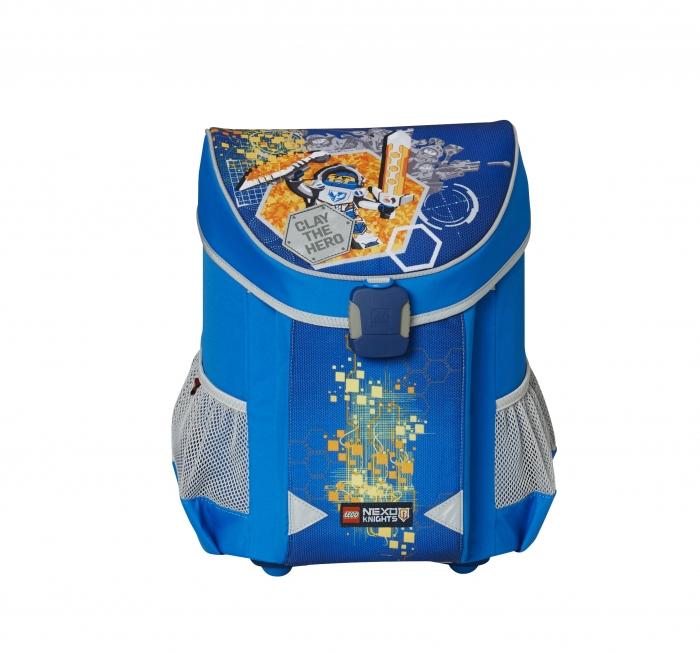 Ghiozdan scoala Easy, LEGO Core Line - design bleu Nexo Knights 0