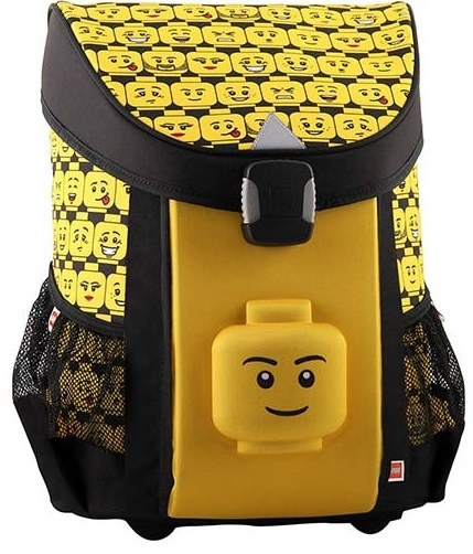 Ghiozdan scoala Easy, LEGO Core Line - design Minifigures Heads 0