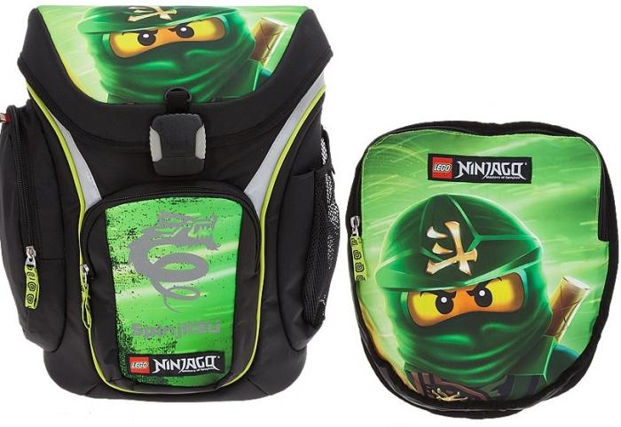 Ghiozdan scoala Explorer + sac sport, LEGO Core Line - design verde NinjaGo Lloyd 0