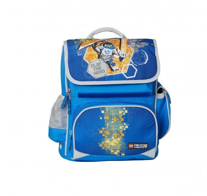 Ghiozdan scoala Premium LEGO Core Line - design bleu Nexo Knights 0