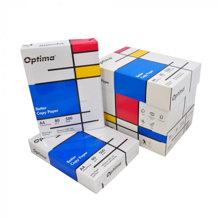 Hartie alba pentru copiator A4, 80g/mp, 500coli/top, Optima 1