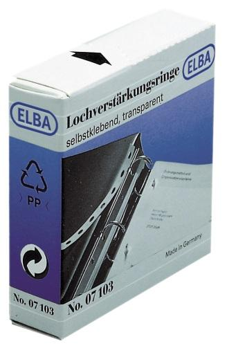 Inele PP autoadezive pentru intarire gauri, D15mm, 500buc/set, ELBA [0]
