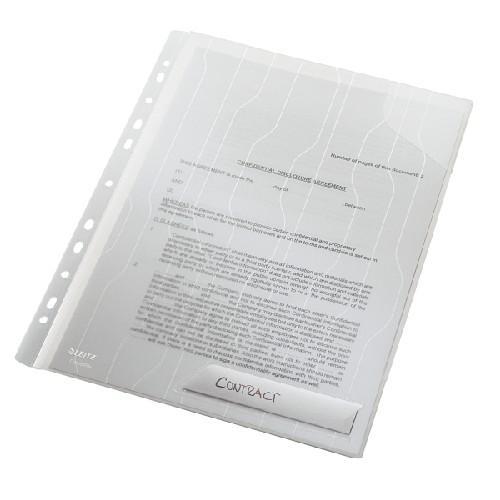 Mapa LEITZ Combi File, rigida, PP, A4, 200 mic, 3 buc/set - transparent 0