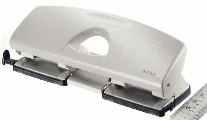 Perforator metalic LEITZ 5022, pentru 4 perforatii, 16 coli - gri 3
