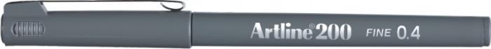 Liner ARTLINE 200, varf fetru 0.4mm - gri [0]