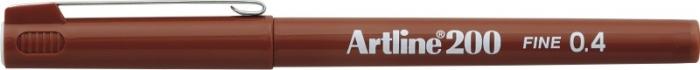 Liner ARTLINE 200, varf fetru 0.4mm - maro [0]