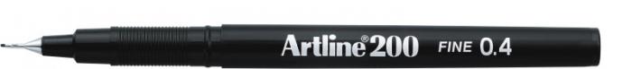 Liner ARTLINE 200, varf fetru 0.4mm - negru [0]