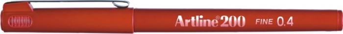 Liner ARTLINE 200, varf fetru 0.4mm - rosu inchis [0]