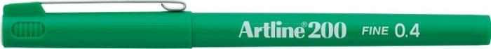Liner ARTLINE 200, varf fetru 0.4mm - verde [0]