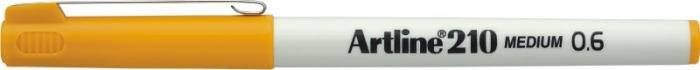 Liner ARTLINE 210, varf fetru 0.6mm - galben [0]