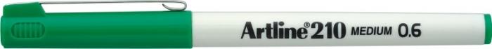 Liner ARTLINE 210, varf fetru 0.6mm - verde [0]