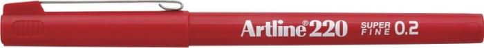 Liner ARTLINE 220, varf fetru 0.2mm - rosu [0]
