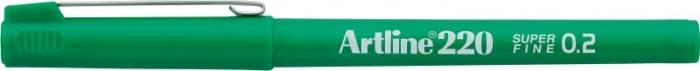 Liner ARTLINE 220, varf fetru 0.2mm - verde [0]