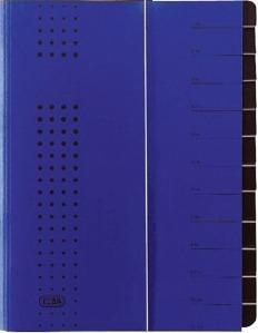 Mapa carton pentru sortare cu 12 separatoare si index ELBA - albastru [0]