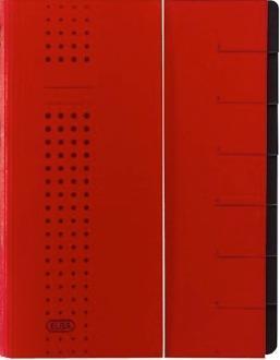 Mapa carton pentru sortare cu 12 separatoare si index ELBA - rosu [0]