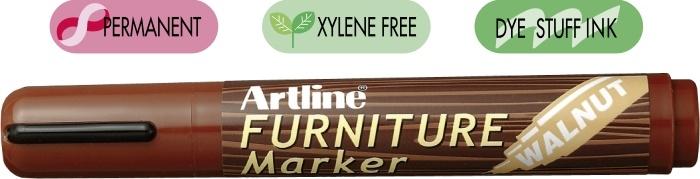 Marker ARTLINE 95, pentru mobilier din lemn (retusuri), corp plastic, varf tesit 2.0-5.0mm - nuc [0]