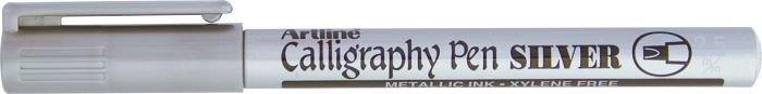 Marker ARTLINE Calligraphy, corp metalic, varf tesit din fetru 2.5mm - argintiu [0]