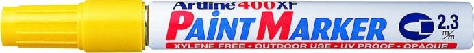Marker cu vopsea ARTLINE 400XF, corp metalic, varf rotund 2.3mm - galben [0]