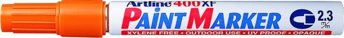 Marker cu vopsea ARTLINE 400XF, corp metalic, varf rotund 2.3mm - portocaliu [0]
