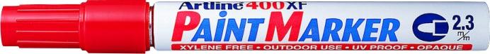 Marker cu vopsea ARTLINE 400XF, corp metalic, varf rotund 2.3mm - rosu [0]