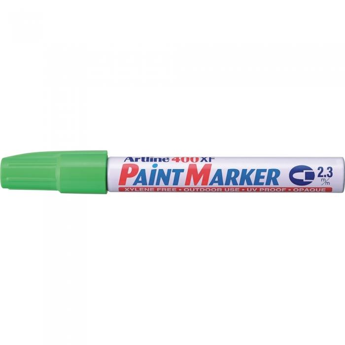 Marker cu vopsea ARTLINE 400XF, corp metalic, varf rotund 2.3mm - vernil [0]
