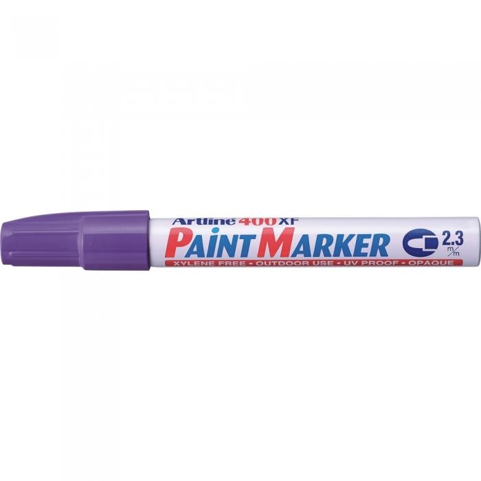 Marker cu vopsea ARTLINE 400XF, corp metalic, varf rotund 2.3mm - violet [0]