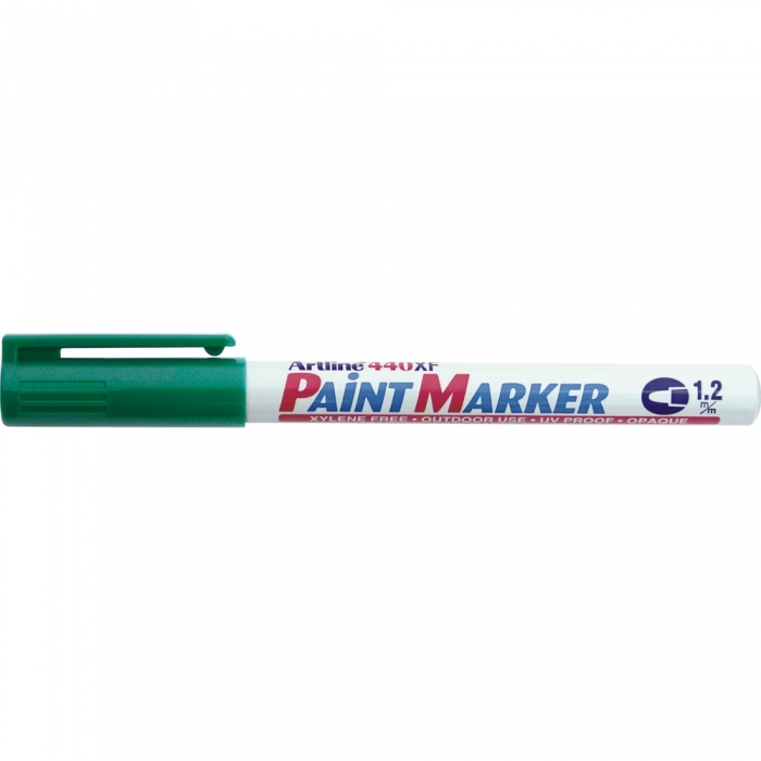 Marker cu vopsea ARTLINE 440XF, corp metalic, varf rotund 1.2mm - verde [0]
